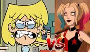 Lori Loud vs Harley Quinn (from the TV Series)