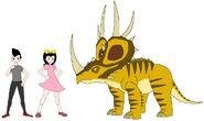 Riley and Elycia meets Rubeosaurus