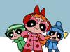 The Powerpuff Girls in the winter