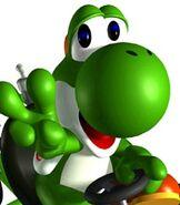 Yoshi in Mario Kart Super Circuit