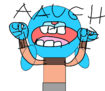 Gumball screaming AAUGH!