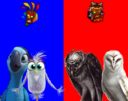 Jewel and Silver vs Metal Beak and Nyra