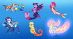 The Mane 6 as Sea Creatures