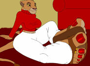 Lion in the living room by nannymcfeet dd5o9u2-fullview