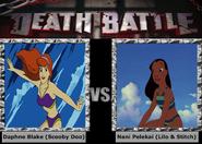 Mrs daphne blake vs mrs nani pelekai swimsuit battle by steveanime-dbj729j