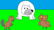 Polar Bear, Beaver, and Owl 2
