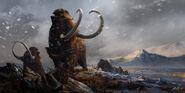 Prehistoric mammals woolly mammoths by balcsika-d78cv9a