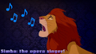 Simba the Opera Singing Lion
