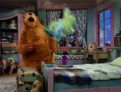 Bear yells for Treelo calling him
