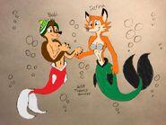 Merdog bodi and merfox darma colorized v2 by trainboy55 ddeczvp-fullview