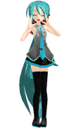 Mmd model dl sleeveless ponytail miku by lightumeko-d4hk0d9