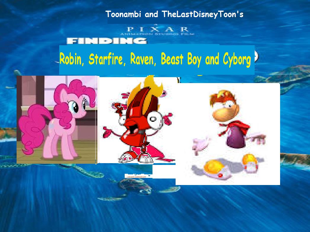 Finding Robin, Starfire, Raven, Beast Boy and Cyborg (TheLastDisneyToon and Toonmbia Style) (Version 4)