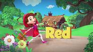 Goldie & Bear Red Disney Junior Logo
