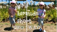 Hi little Bugs and welcome to my channel) Today I'll be showing you two looks wearing the same pair of denim Bermuda shorts. These shorts are so comfortable...