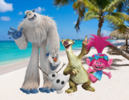 Migo, Olaf, Sid and Poppy