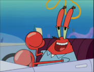 Mr. Krabs smiling happily