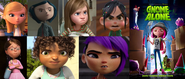 Penny, Coraline, Riley, Vanellope, Margo, Tip and Mai hates Gnome Alone