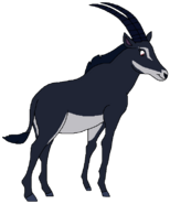 Amy Spacebot sable antelope form thelionking2simbaspride in thespacebotsadventuresseries