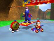Diddy Kong Racing 64 diddy taj and tt