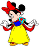 Minnie Mouse dressed as Snow White
