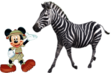 Mickey Meets Plains Zebra