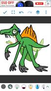 Princess Mindy as Spinosaurus
