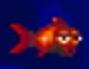 Reddish orange fish in the smurfs travel the world