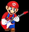 Mario Playing Electric Guitar