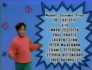 Sesame Street 1992 credits sequence: a boy dance in the blue background with numbers