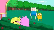 Tree trunks and pig are in branches