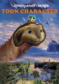 Toon character dinosaur poster