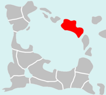 Location of Cildania