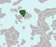 Location of New Endralon and Kizenia