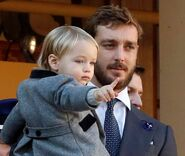 Prince Nicola of Istalia with Prince Alessandro