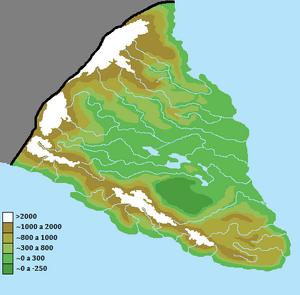 Physical map of the Sarrentina Peninsula