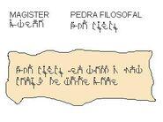 Magister mesagem pedra filosofal