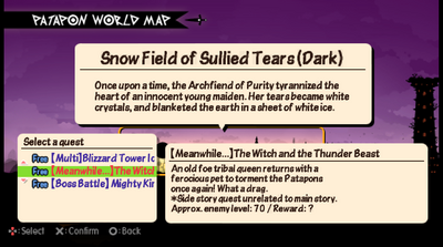 (Meanwhile... ) The Witch and the thunder beast quest info.png