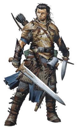 Valeros, iconic fighter