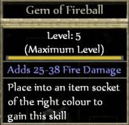 Fireball tooltip