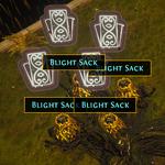 Blight Sack divination cards.png