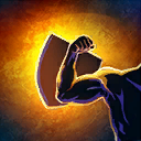 BlockAttackDmgNotable passive skill icon.png