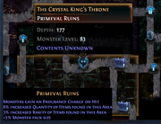 Map of The Crystal King's Throne at depth 177