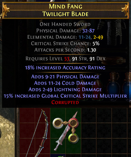 Corrupted Official Path Of Exile Wiki The effect is multiplicative with the effects of x% reduced mana reservation modifiers. corrupted official path of exile wiki