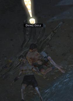 Умирающий изгнанник выживший после кораблекрушения