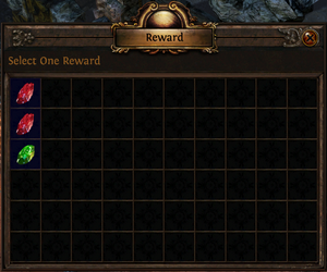 A choice of staple skill gems are given out as quest rewards throughout the game to ensure that players have a variety of skills available..