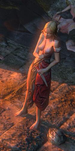 Несса выжившая после кораблекрушения