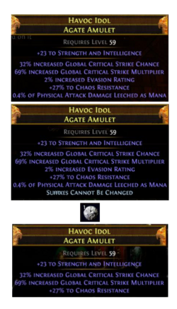 Crafting an amulet
