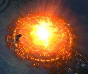 Пламенный взрыв skill screenshot.jpg