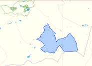 Заказник Кызылтау на карте Баянаульского района