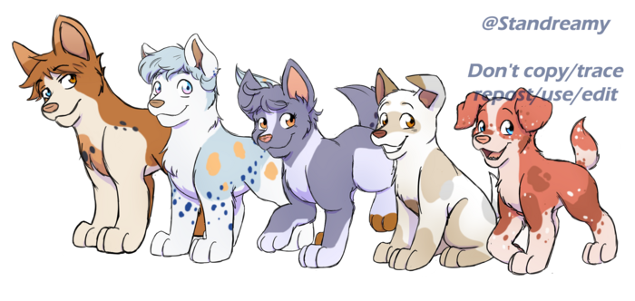 From left to right: Entei, Kaze, Jeanie, Mauno and Elm